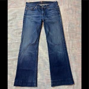 7 For All Mankind Denim Seven Jeans Wide Leg Sz 30